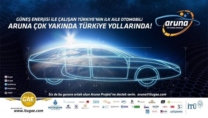 """Güneş enerjisi ile çalışan yerli aile otomobili """"Aruna!"""