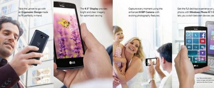 LG yeminini bozdu Windows'lu telefon yaptı: LG Lancet! 1