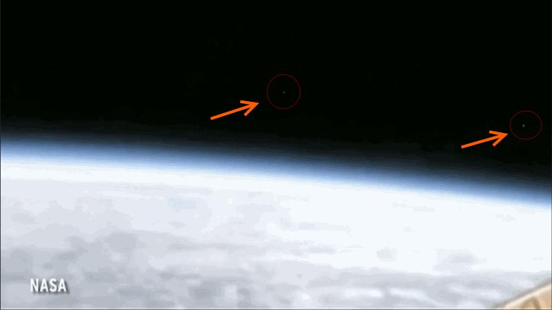 NASA canlı yayınında UFO görüldü!