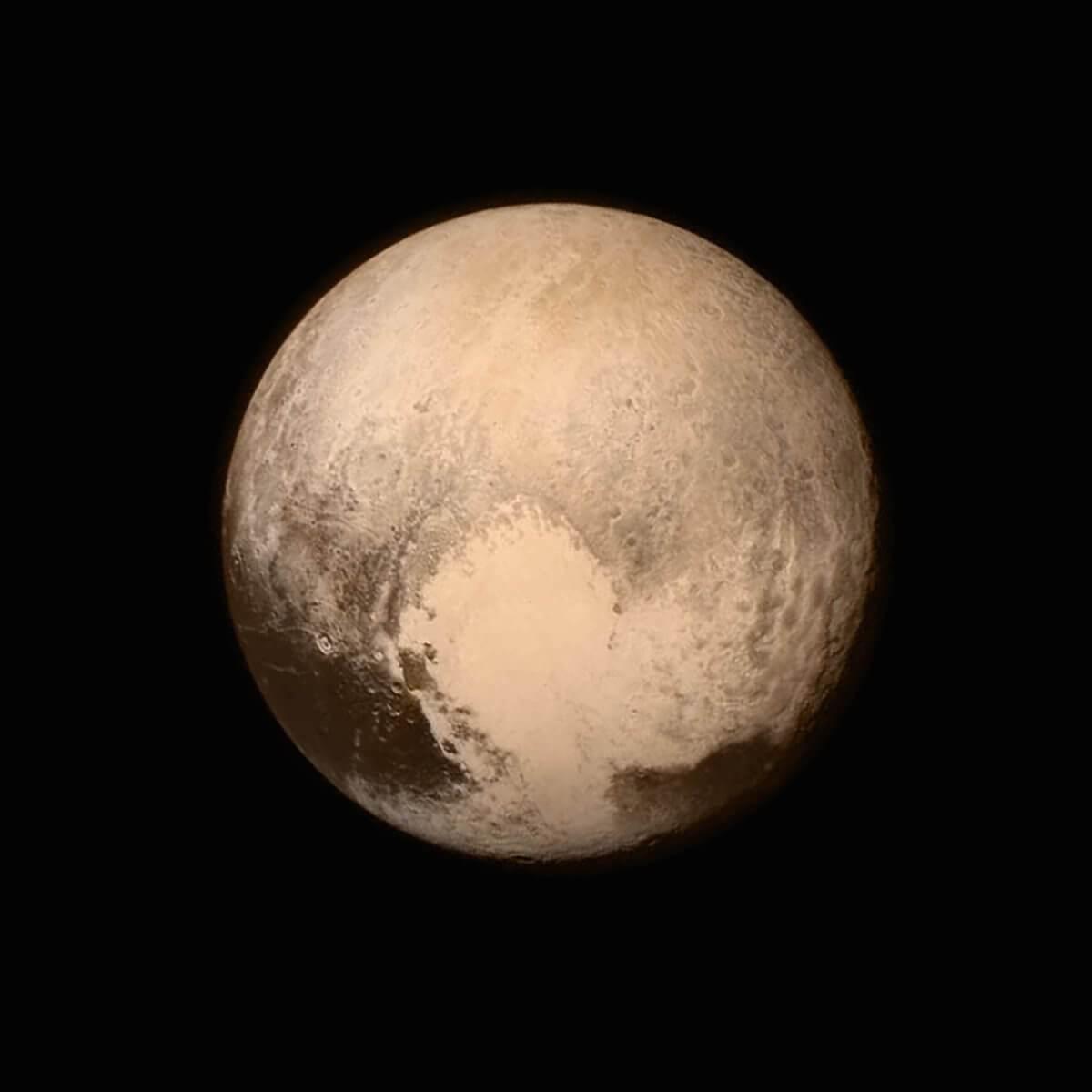 İşte Plüton gezegeni! Yakından bakın! 1