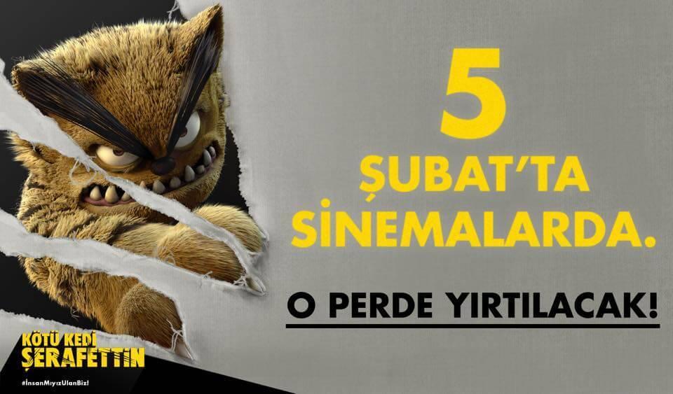 Kötü Kedi Şerafettin animasyon filminin vizyon tarihi açıklandı! 1