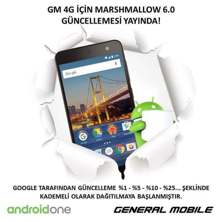 General Mobile 4G Marshmallow güncellemesi çıktı! 1
