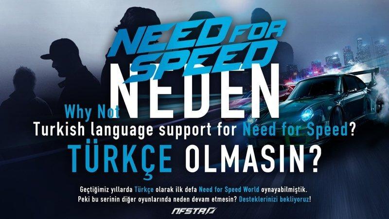 Yeni Need For Speed oyunları Türkçe olsun mu? 1