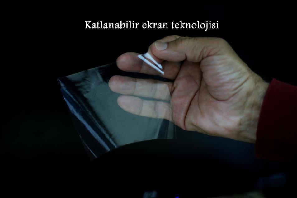 Katlanabilir ekran teknolojisine de el attık! Oda yerli olacak 1