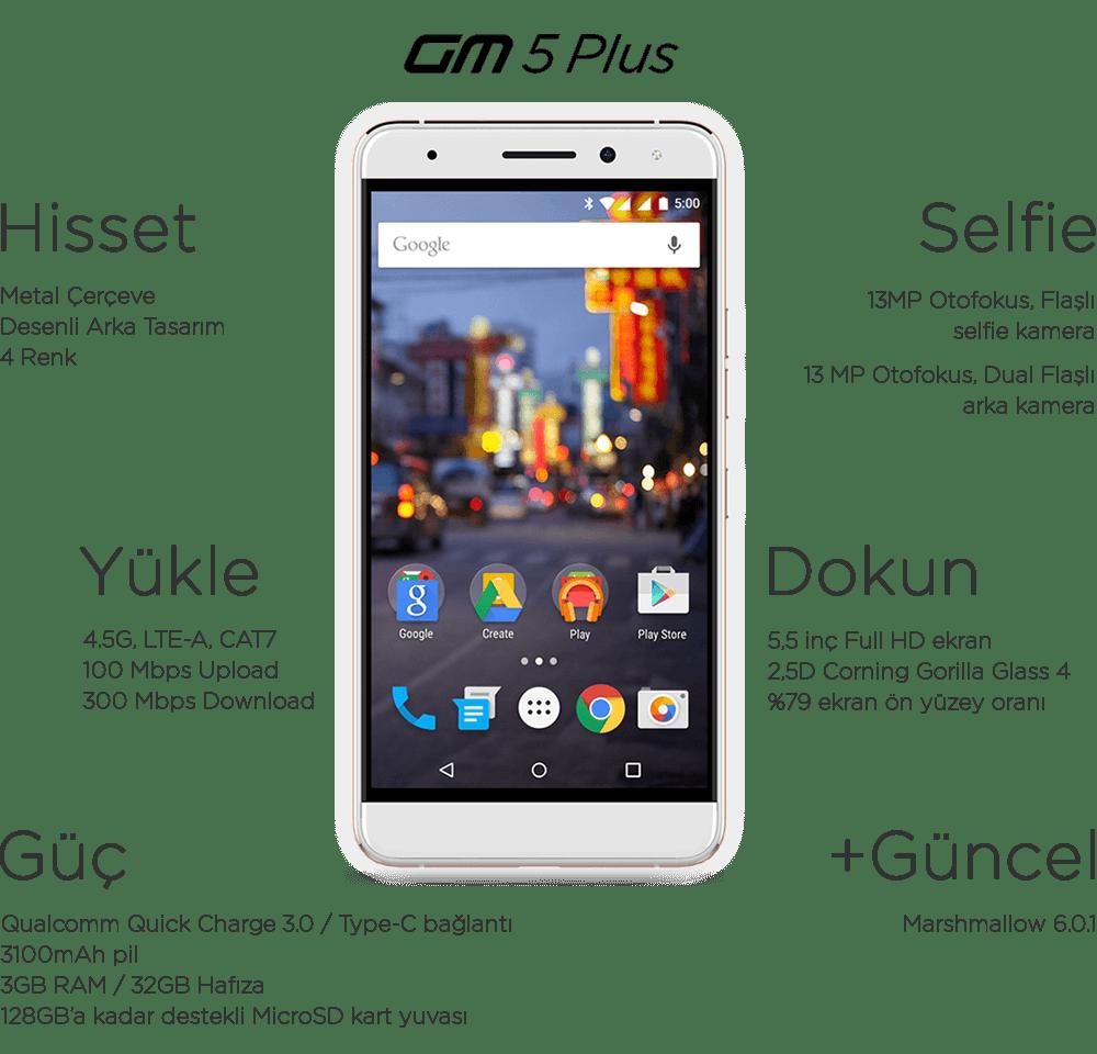 Yerli tasarım akıllı telefon: General Mobile 5 Plus! İşte özellikler ve fiyat!