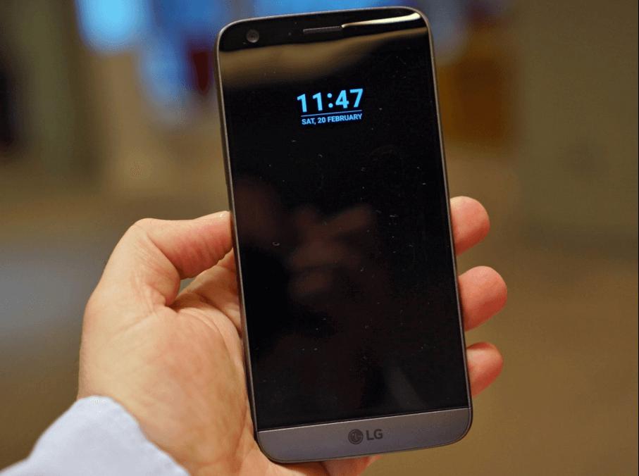 LG G5 temsili olarak LG G6 yerine kullanılmıştır
