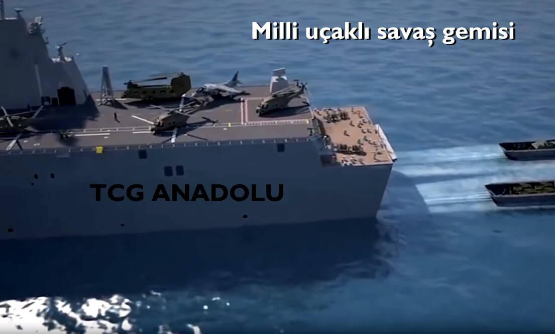 İşte Türkiye'nin gururu olacak milli uçaklı savaş gemimiz: TCG Anadolu 1