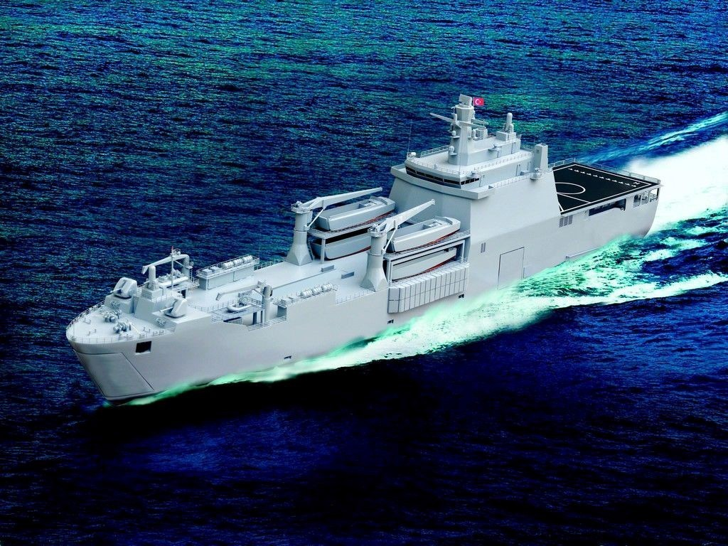 Yerli yapım amfibi gemi Sancaktar tamamlanarak denize indirildi! 1