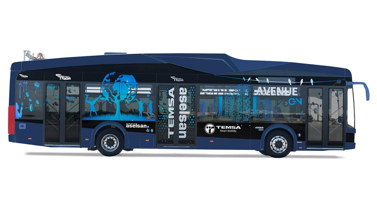 Aselsan ve Temsa'dan %100 elektrikli otobüs!