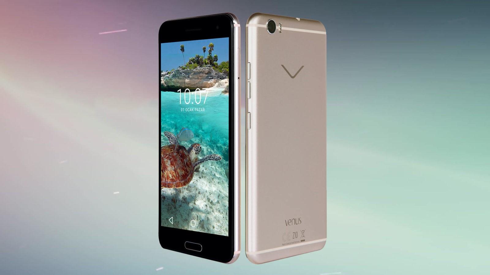 Vestel yeni telefonunu görücüye çıkardı: Vestel Venüs Z10!