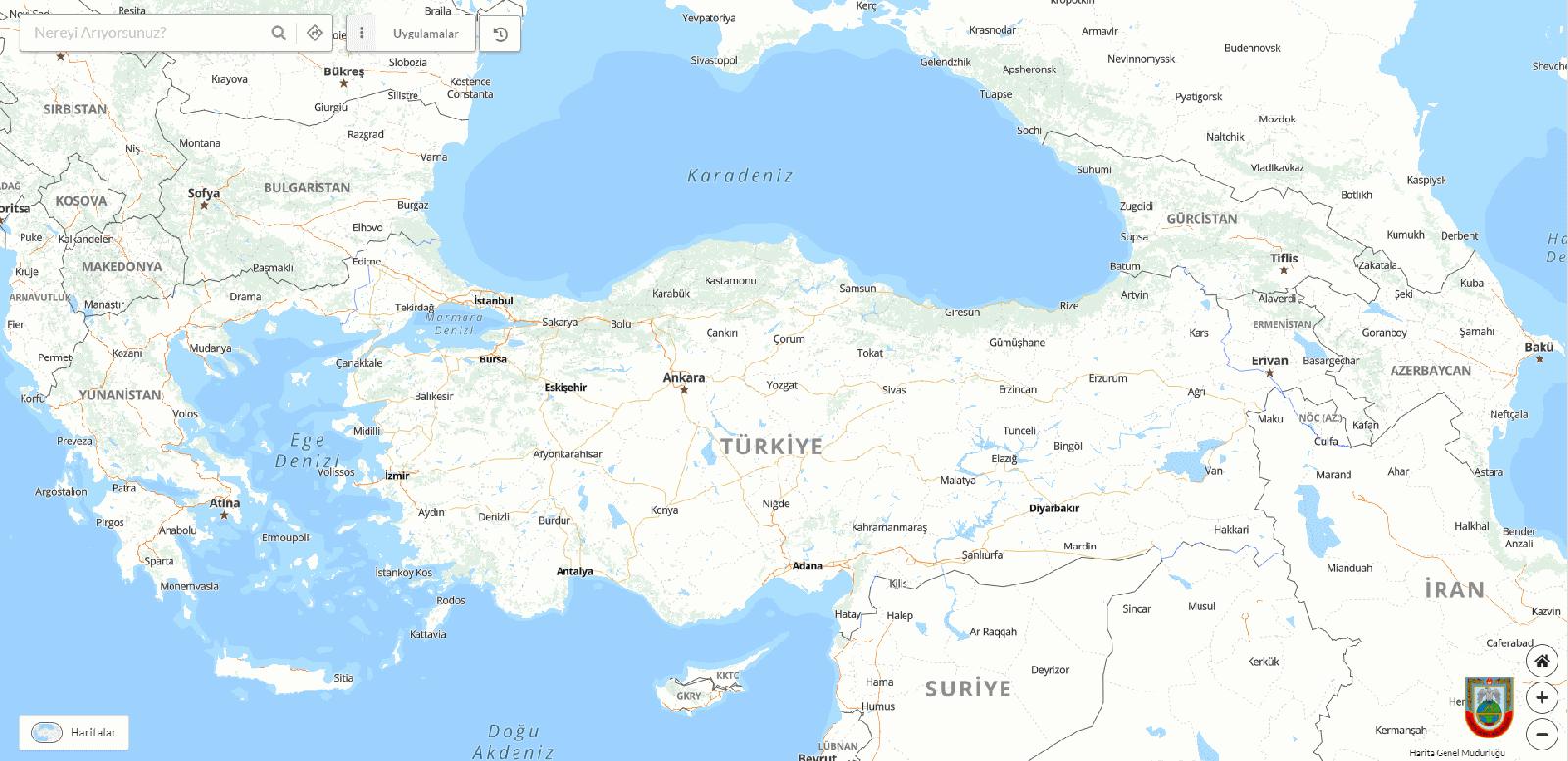Yerli harita sitesi kullanıma açıldı! 1